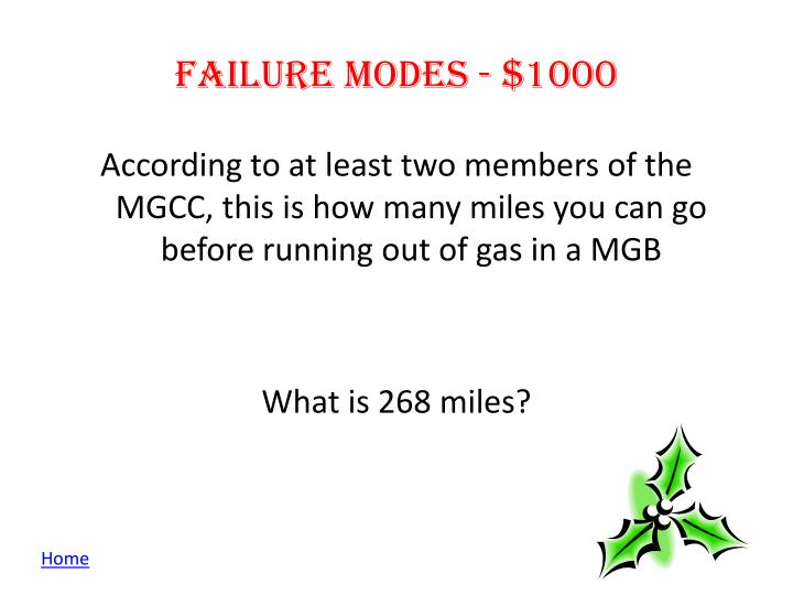 Failure modes - $1000