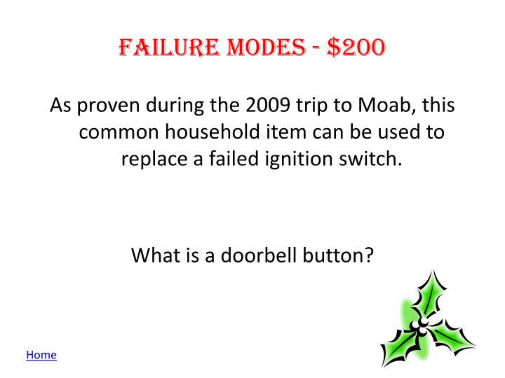 Failure modes - $200