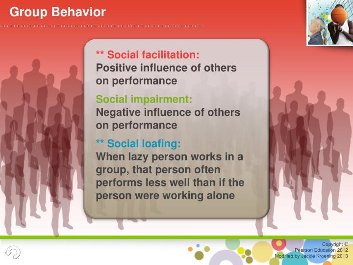** Social facilitation: