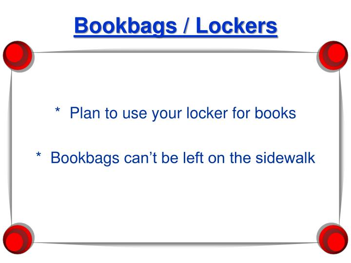 Bookbags