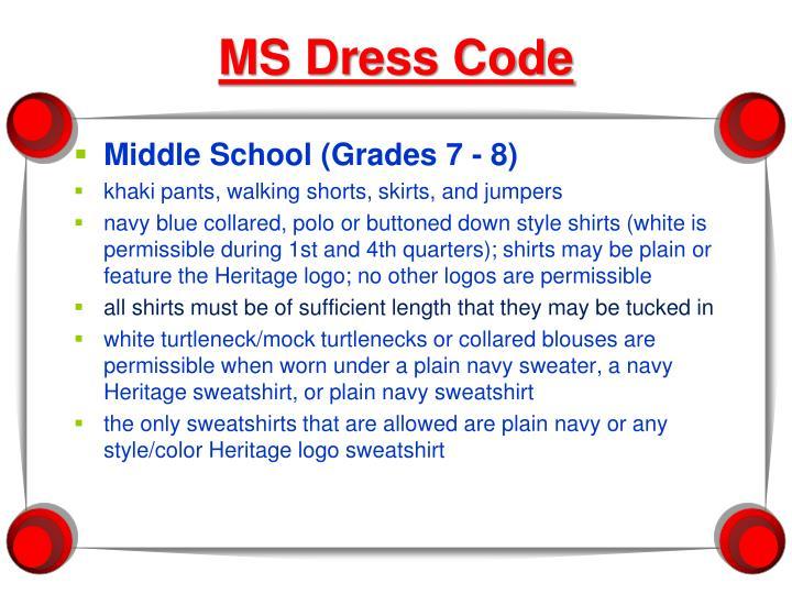 MS Dress Code