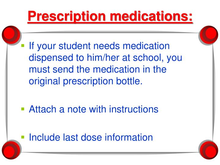 Prescription medications: