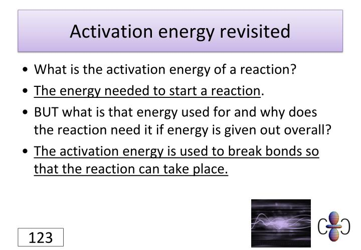 Activation energy revisited