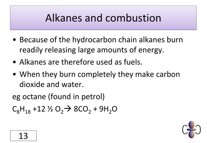 Alkanes and combustion