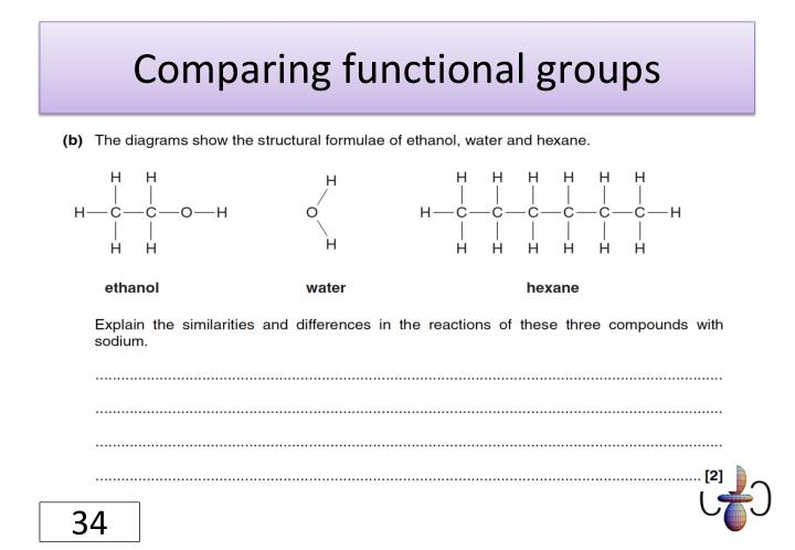 Comparing functional groups