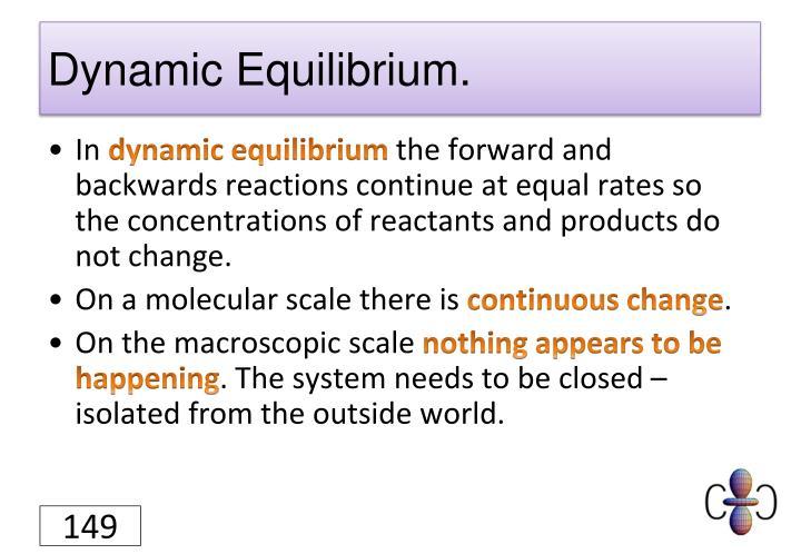 Dynamic Equilibrium.