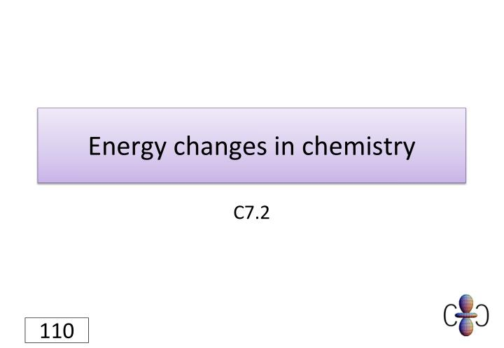 Energy changes in chemistry