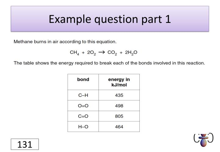 Example question part 1