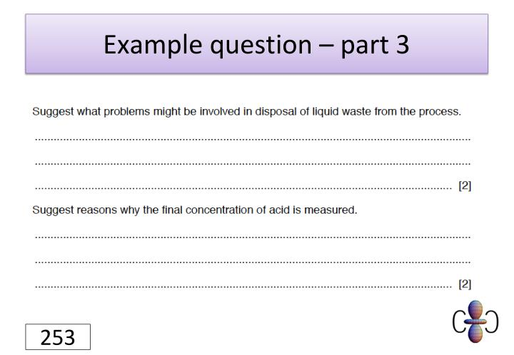 Example question – part 3