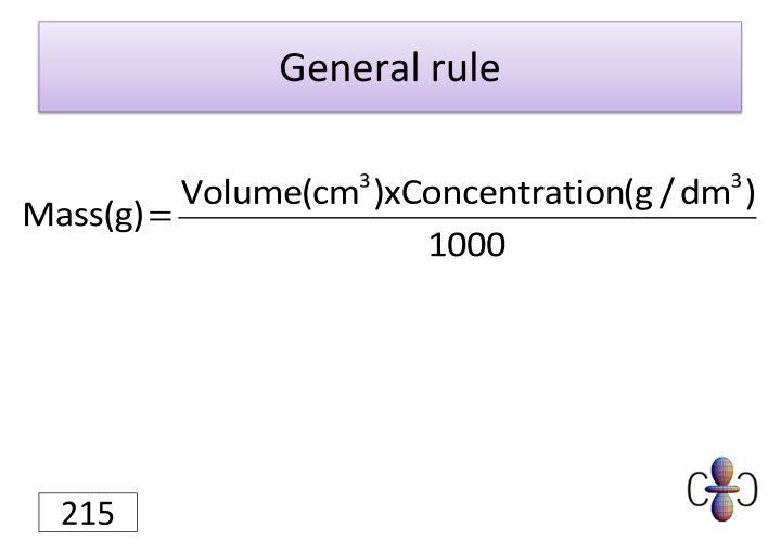 General rule
