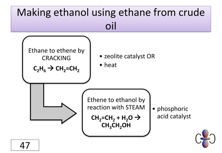 Making ethanol using ethane from crude oil