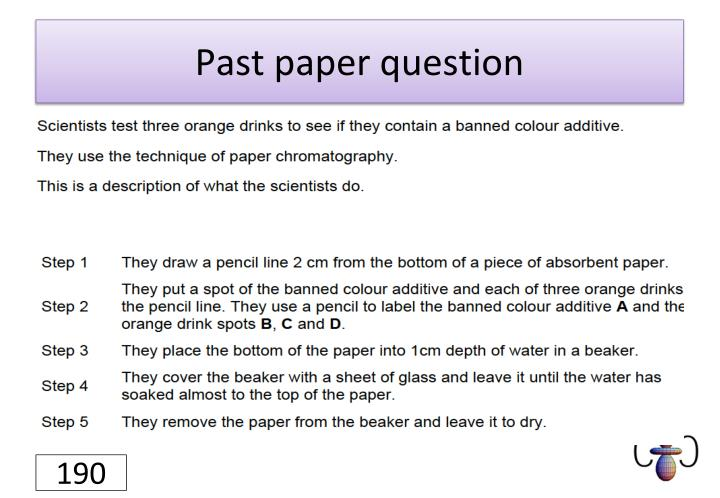 Past paper question