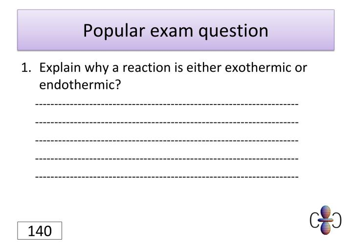 Popular exam question
