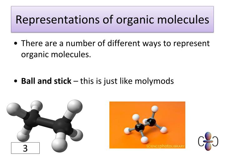 Representations of organic molecules