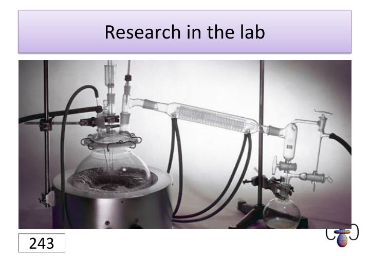 Research in the lab