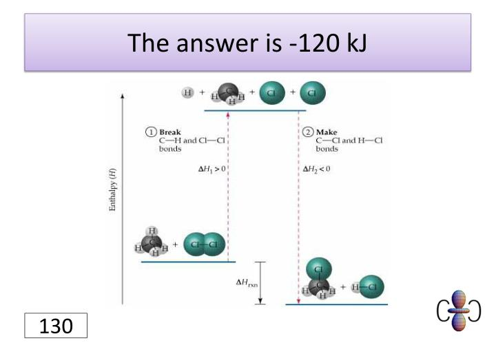 The answer is -120 kJ