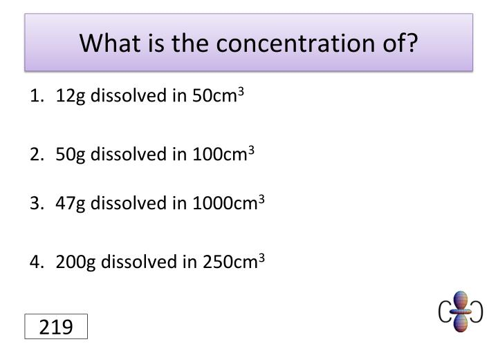 What is the concentration of?