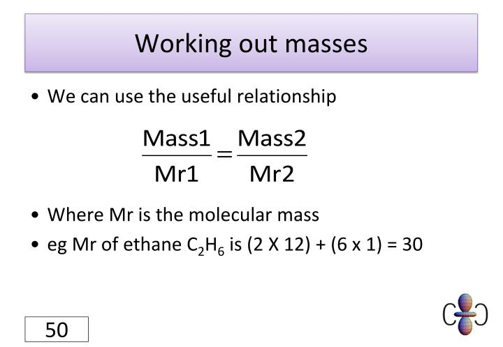 Working out masses