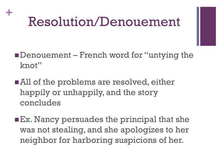 Resolution/Denouement