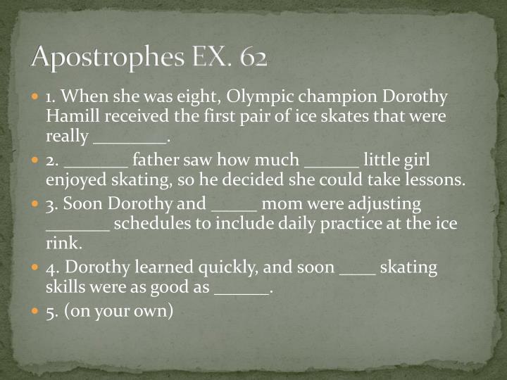 Apostrophes EX. 62