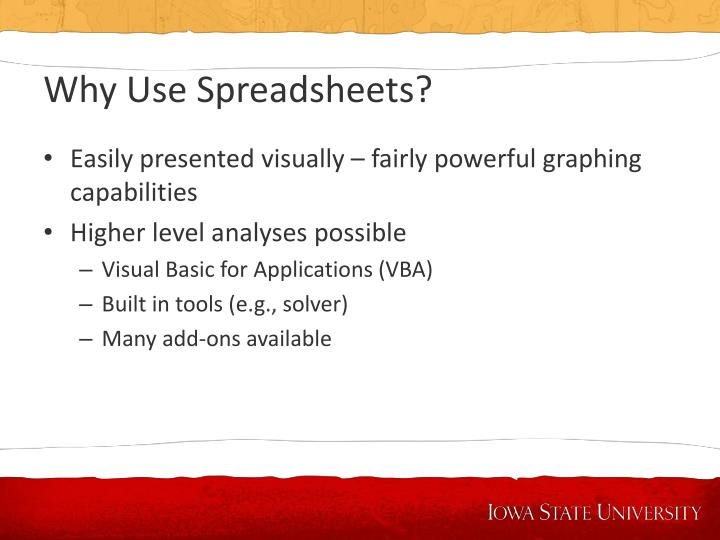 Why use spreadsheets1
