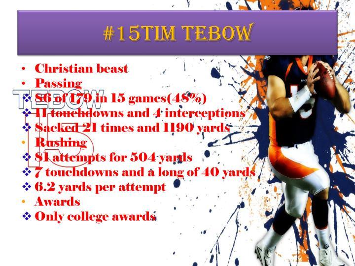 #15Tim Tebow