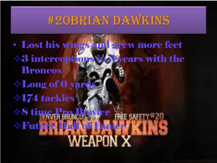 #20Brian Dawkins