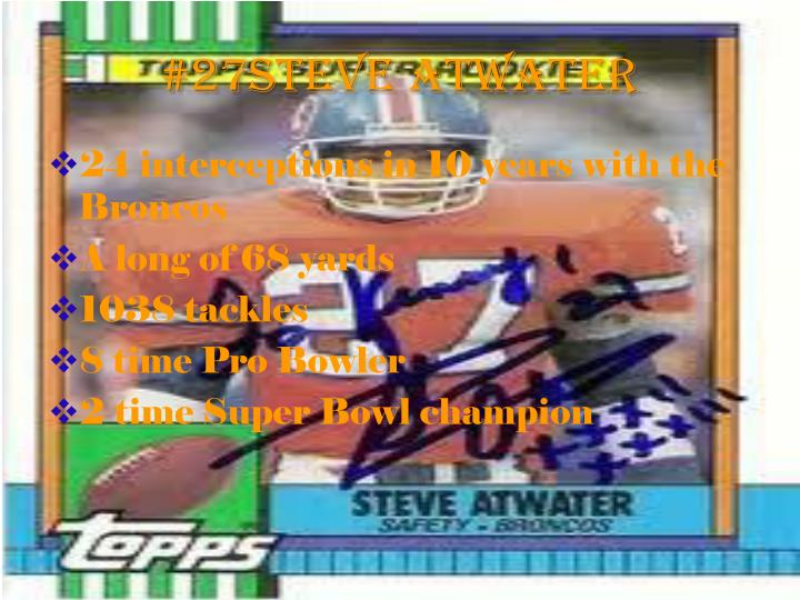 #27Steve Atwater