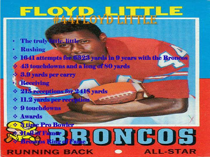 #44Floyd Little