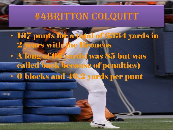 #4Britton Colquitt