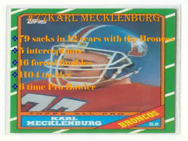#77Karl Mecklenburg