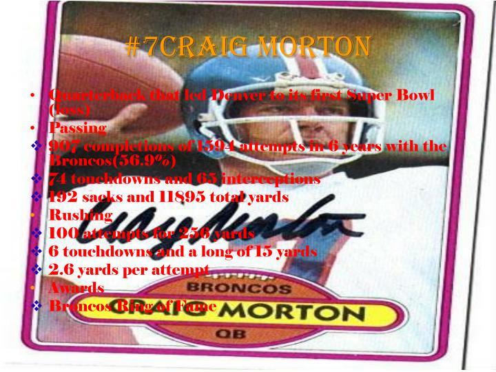 #7Craig Morton