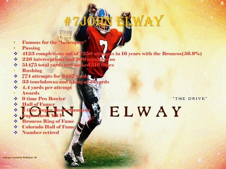 #7John Elway