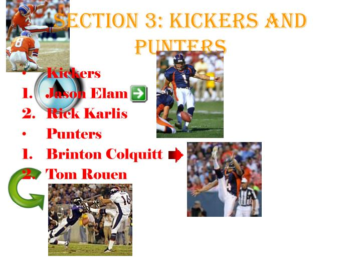 Section 3: Kickers and Punters
