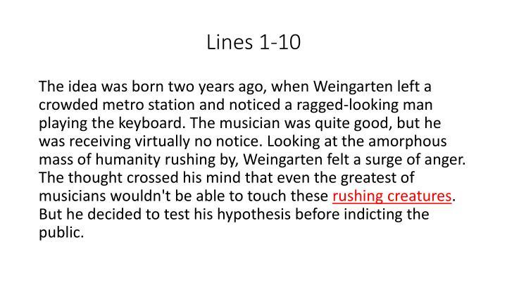 Lines 1-10