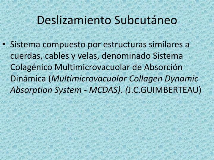 Deslizamiento Subcutáneo