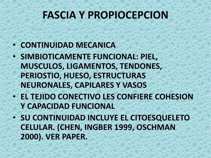 FASCIA Y PROPIOCEPCION