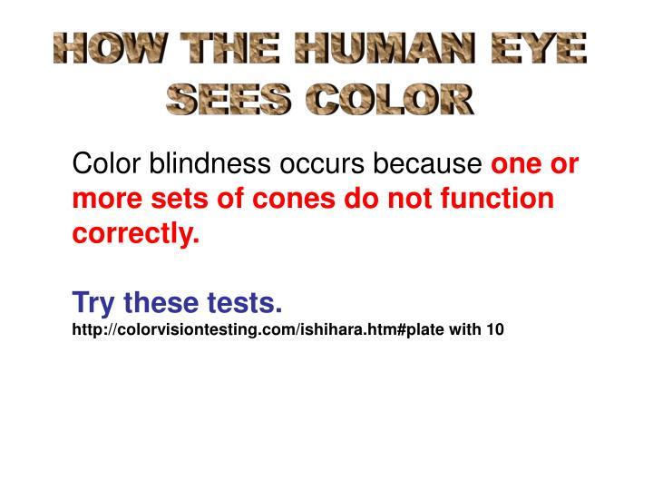 HOW THE HUMAN EYE