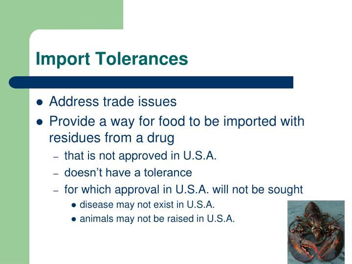 Import Tolerances