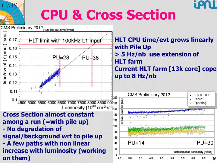 CPU & Cross Section