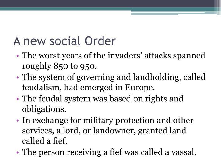 A new social Order