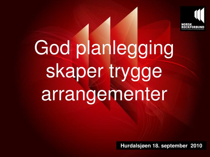 God planlegging