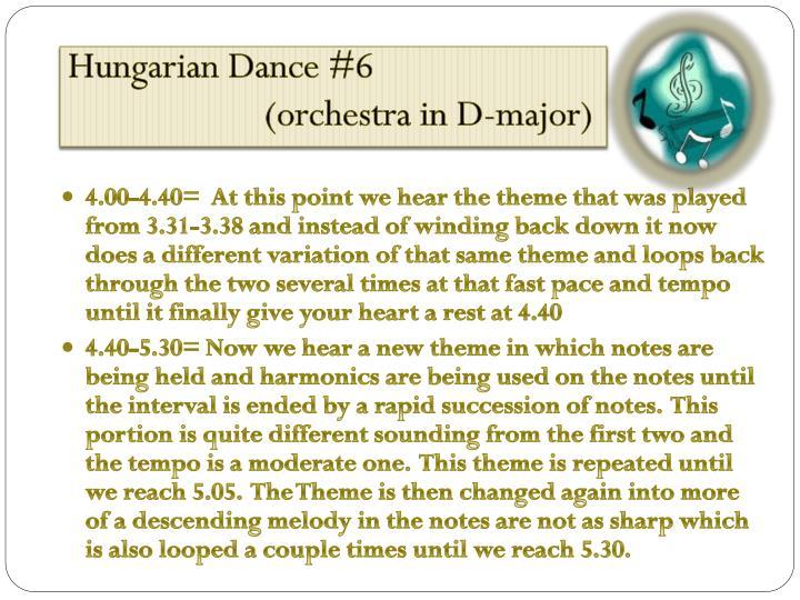 Hungarian Dance