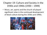 chapter 19 culture and society in the 1930s and 1940s 1930 1949