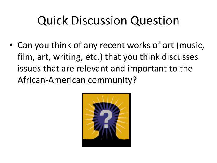 Quick Discussion Question