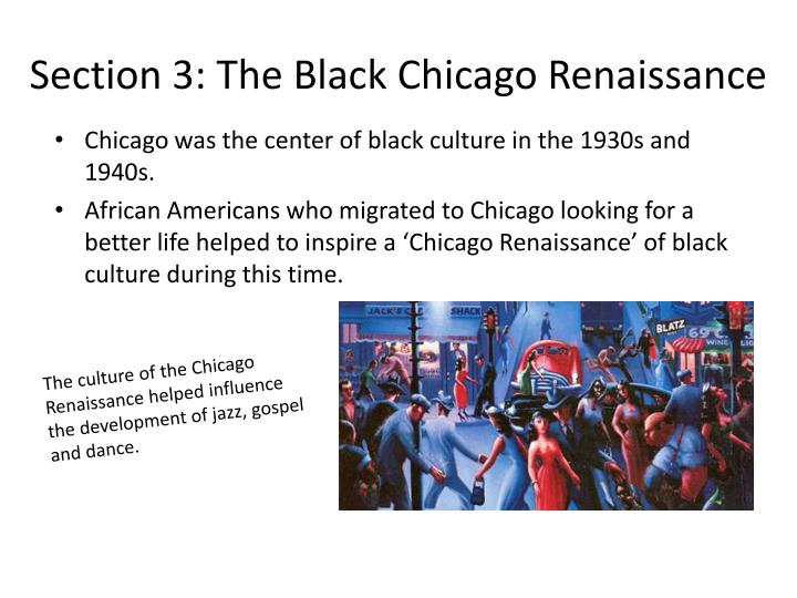 Section 3: The Black Chicago Renaissance