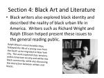 section 4 black art and literature1