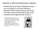 section 5 african americans in sports