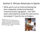 section 5 african americans in sports1