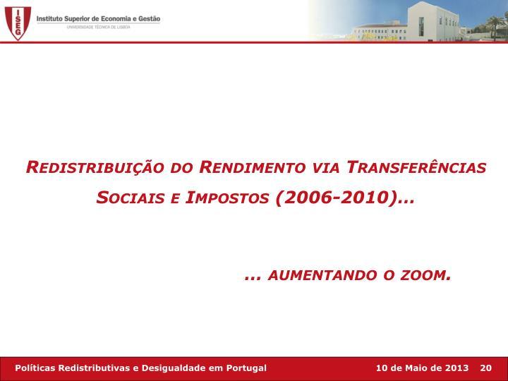 Redistribuição do Rendimento via Transferências Sociais e Impostos (2006-2010)…